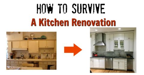 Here's how to survive a kitchen renovation and still cook for your family! http://mamashighstrung.com/2016/10/kitchen-renovation/