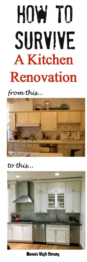 Here's how to survive a kitchen renovation and still cook for your family!  http: