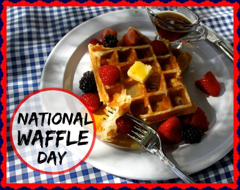 It's National Waffle Day: http://mamashighstrung.com/blog/?p=6338