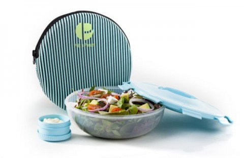 Salad container with Separate Dressing Container