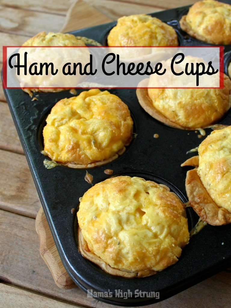 Ham and Cheese Cups - Whip up these on Saturday or Sunday and after they've cooled, pop them in a resealable freezer bag so you can reheat when you're in a hurry!