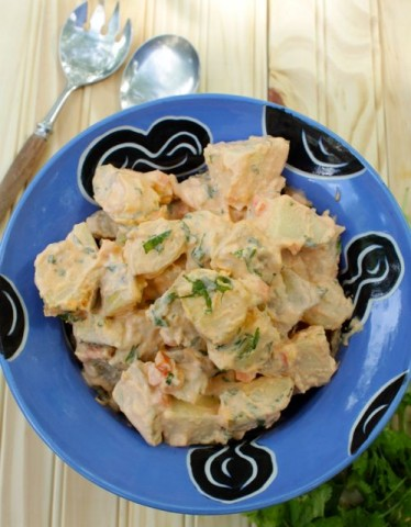 Sriracha Potato Salad with Mint