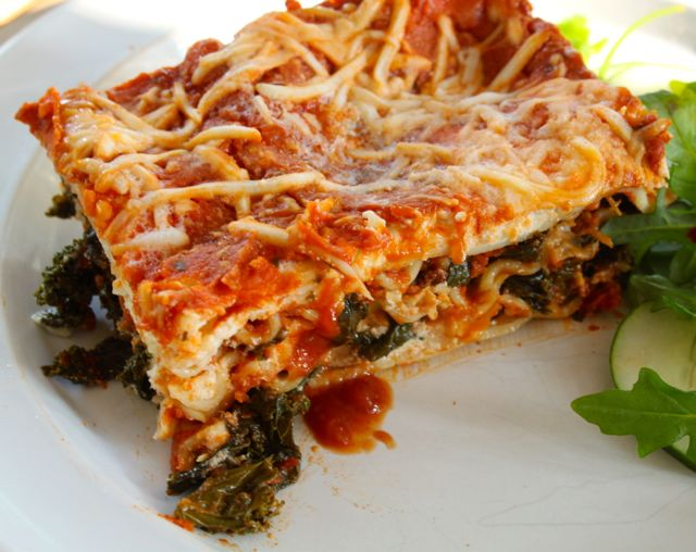 ... Served: Kale and Portobello Mushroom Lasagna - Mama's High Strung