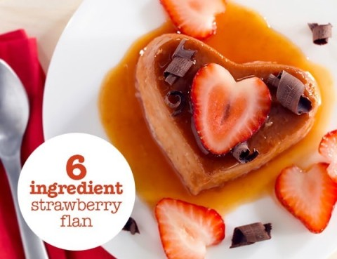 6-Ingredient Strawberry Flan