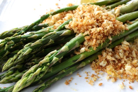 Asparagus with Lemon Breadcrumbs