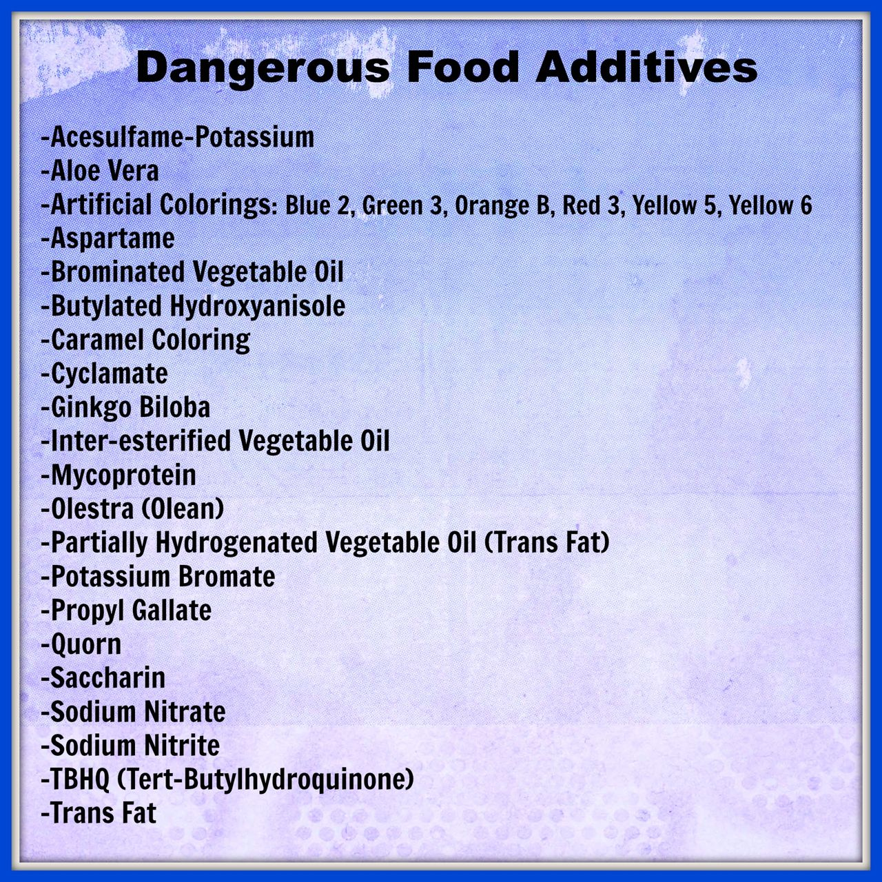 Dangerous food additives essay