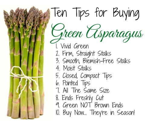 Here's a printable guide with the Top Ten Tips for Buying Green Asparagus