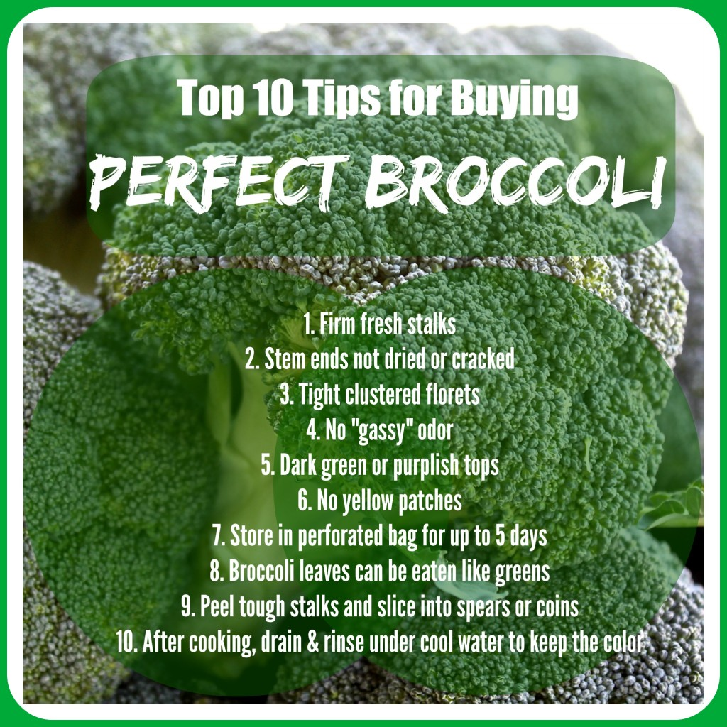 10 Tips for Buying Perfect Broccoli