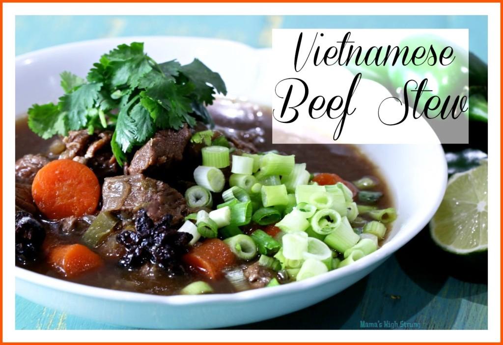 Mama's High Strung- Vietnamese Beef Stew
