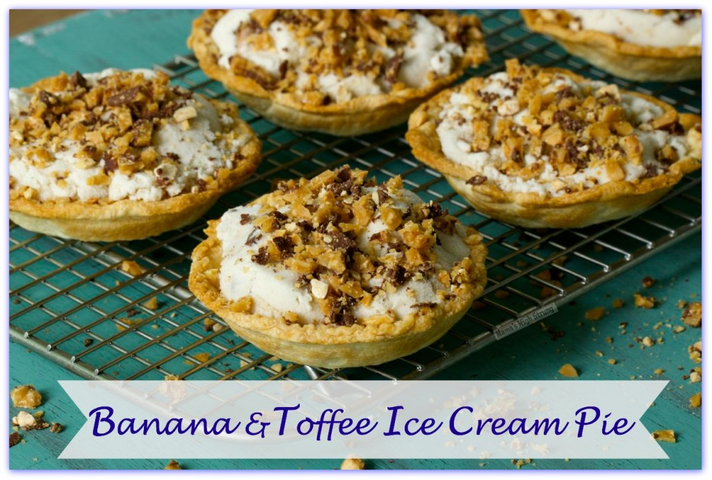 Banana and Toffee Ice Cream Pie-Mama's High Strung