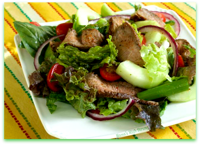 Use leftover steak to make a delicious Thai Beef Salad - Mama's High Strung