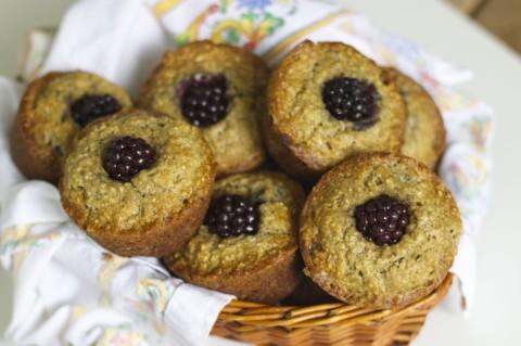 Banana Blackberry Muffins