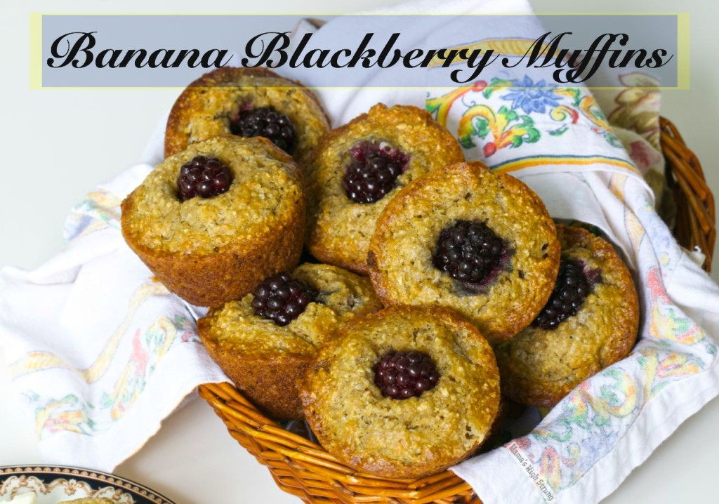 Banana Blackberry Muffins
