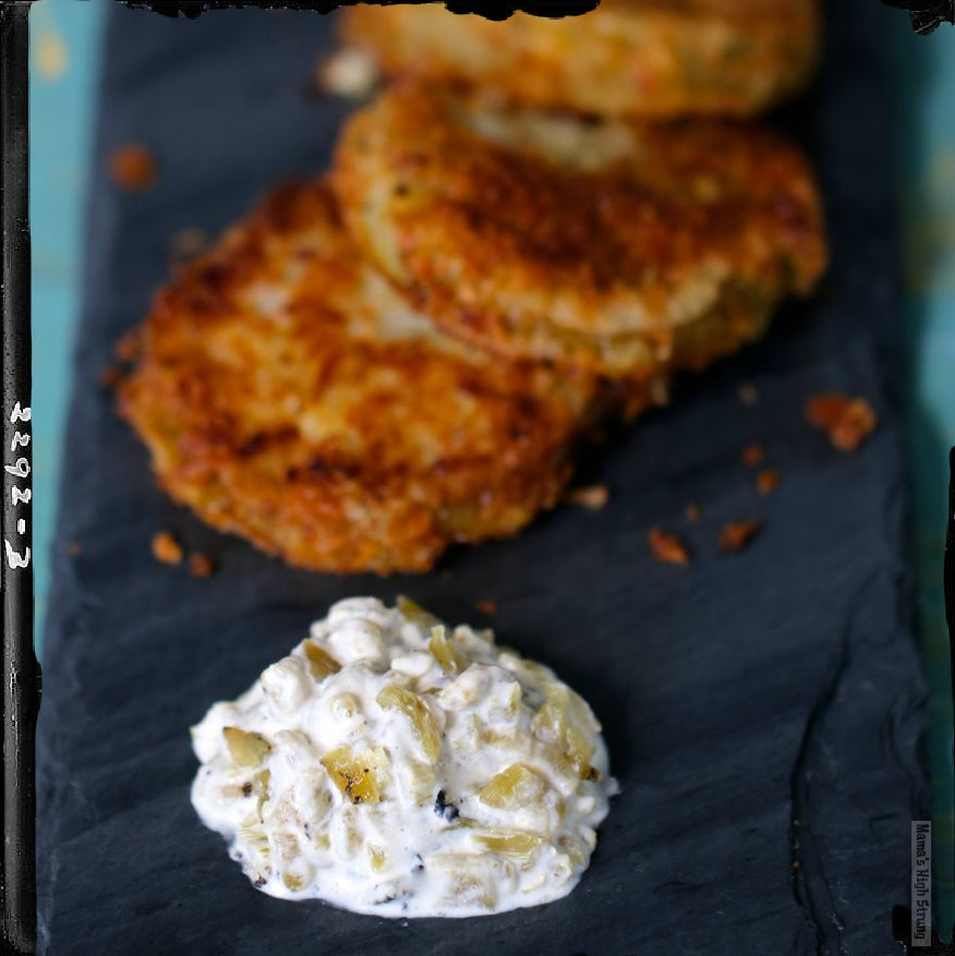 Hatch Green Chile Aioli with Fried Green Tomatoes