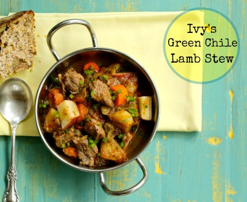 Ivy's Green Chile Lamb Stew