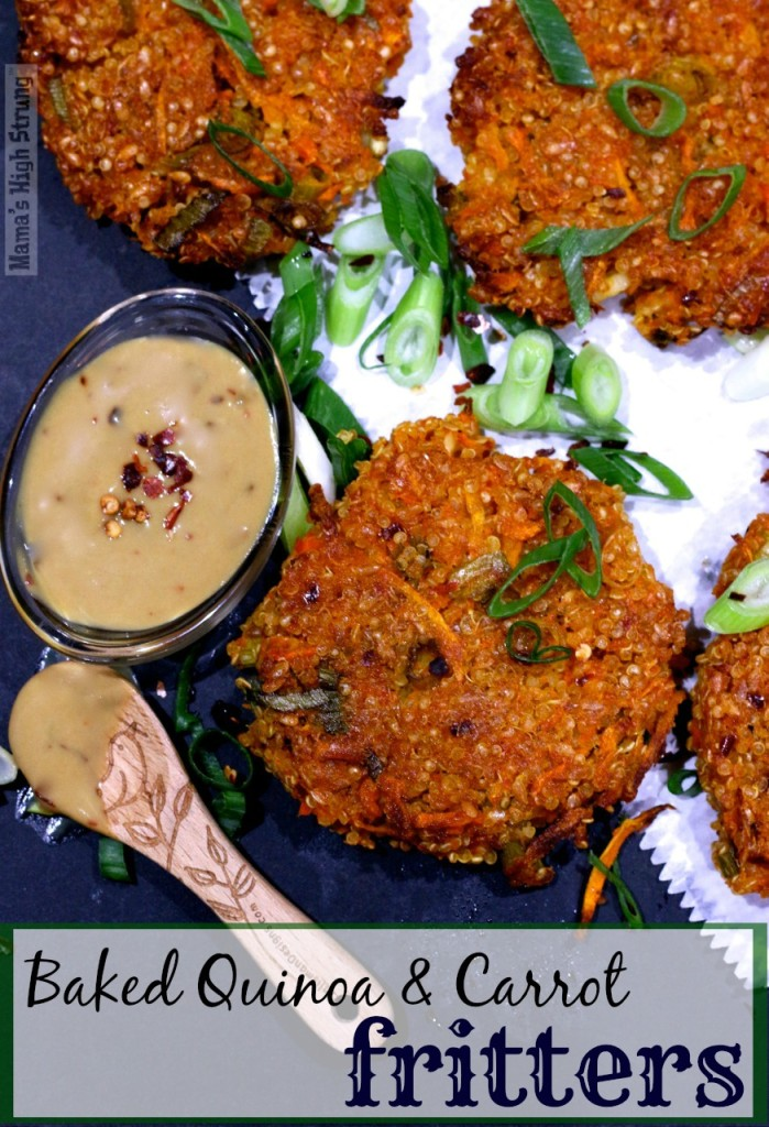 Baked Quinoa and Carrot fritters- Mama's High Strung