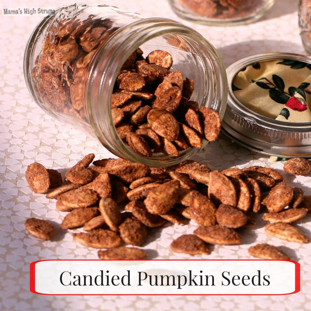 How to Make Candied Pumpkin Seeds - Mama's High Strung