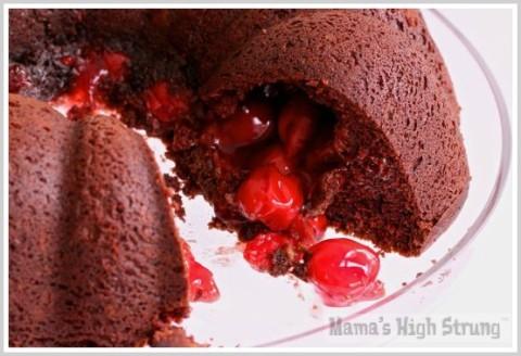Chocolate Cherry Bundt Cake from Mama's High Strung