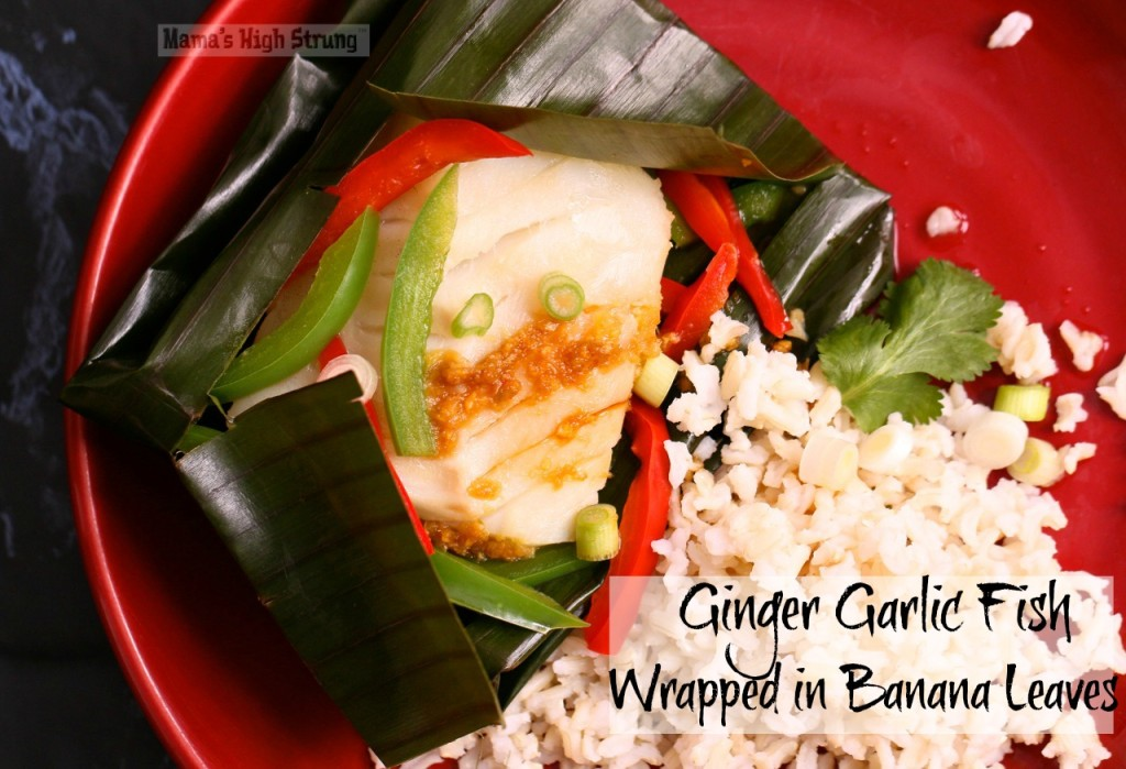 Steaming Ginger Garlic Fish in Banana Leaves is a great way to eat healthy without adding extra fat or calories. The leaves add a subtle, exotic flavor!