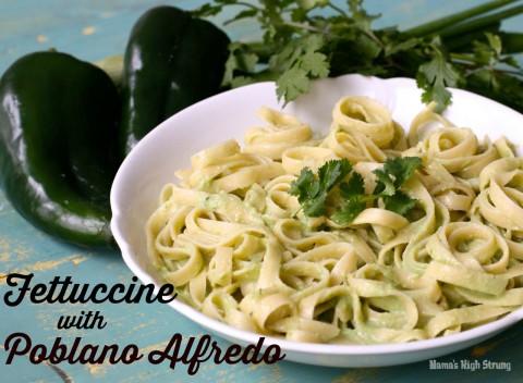 Fettuccine with Poblano Alfredo