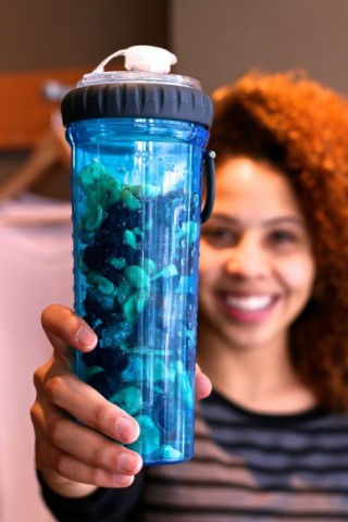 BPA-free Snack Duo Water Bottle