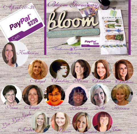 bloom giveaway sponsors