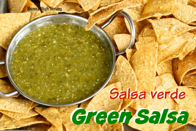 Don't wait for Cinco de Mayo to enjoy this delicious tomatillo-based Fresh Green Salsa. Great with scrambled eggs, grilled meat and even on Mac and Cheese!