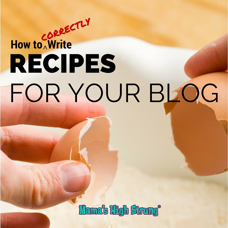 How to Write Recipes