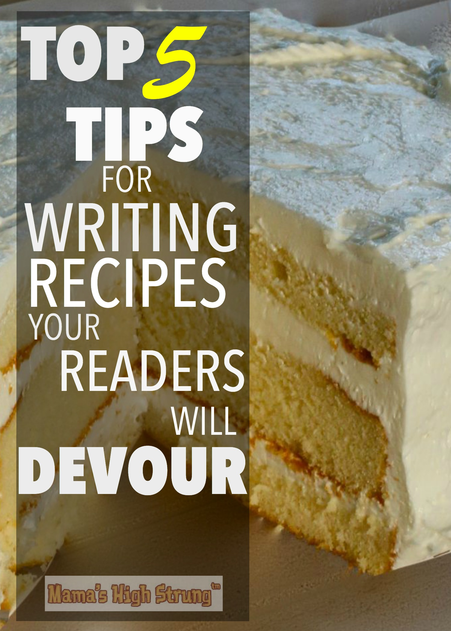 Tips for Writing Recipes