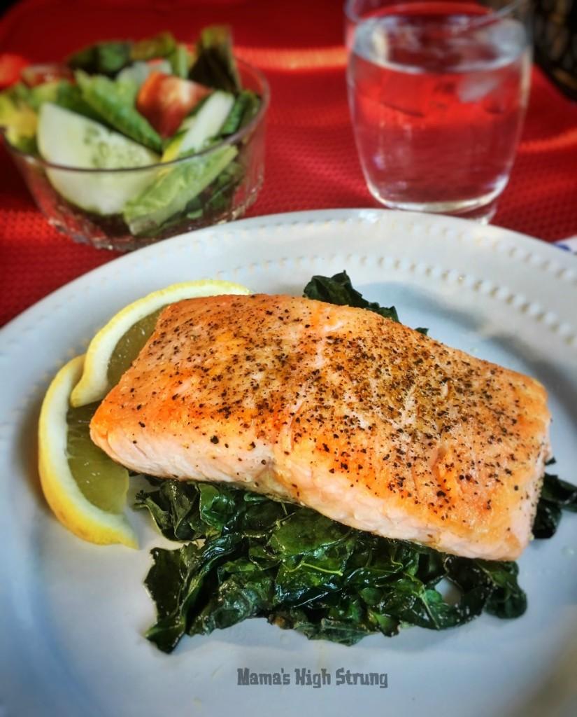 Pan Seared Salmon Mama's High Strung